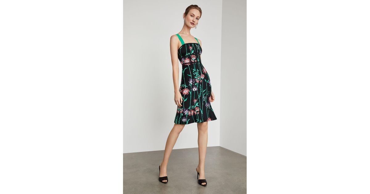 fce5a5224a4 BCBGMAXAZRIA Strappy Floral Bodycon Dress in Black - Save 42% - Lyst
