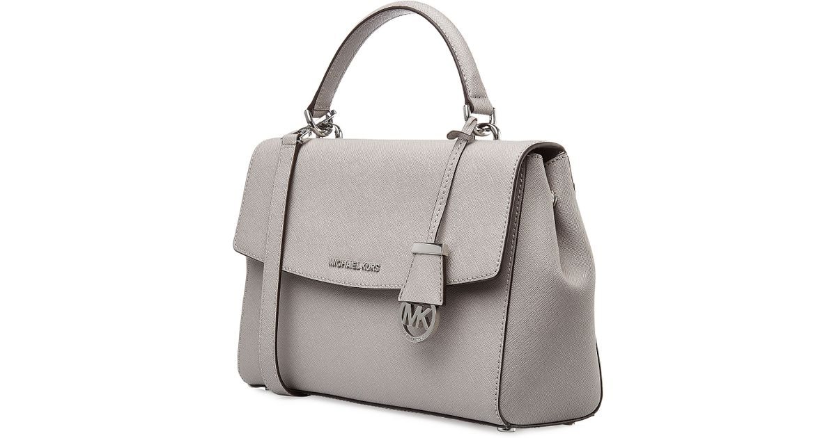 99f1bf35dd338 Lyst - MICHAEL Michael Kors Ava Small Leather Tote - Grey in Gray