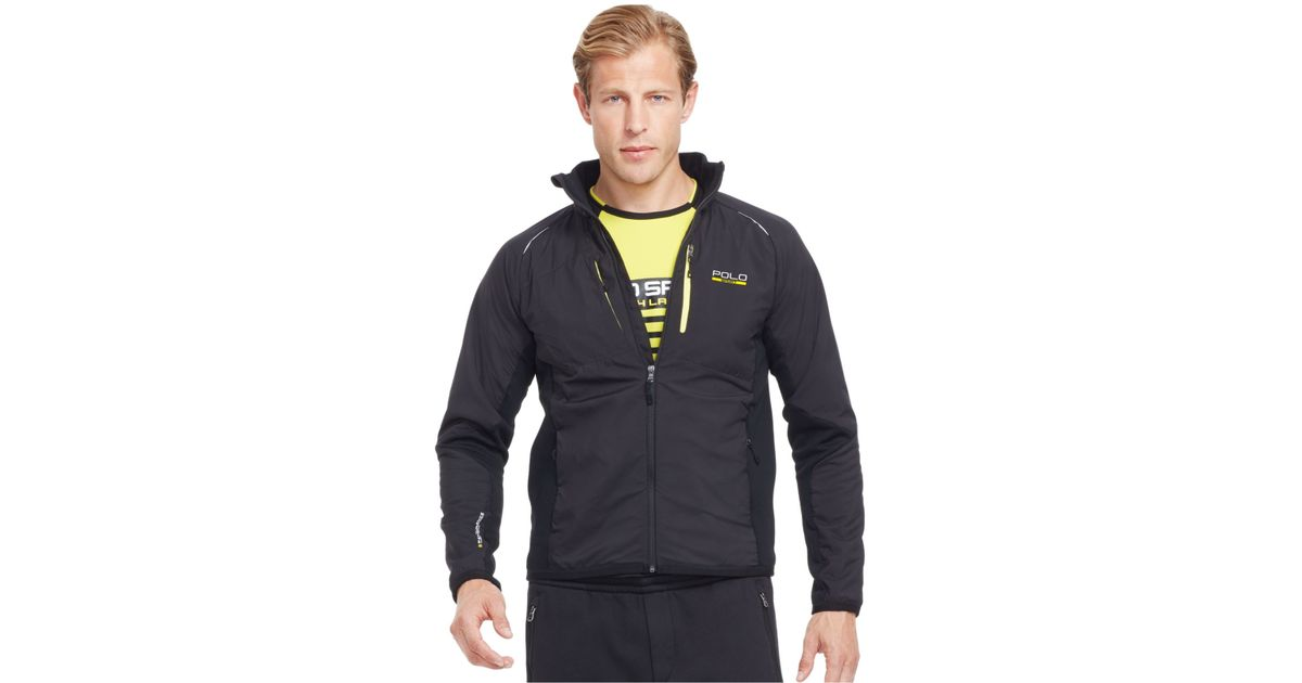 polo ralph lauren polo sport hybrid tech jacket in black for men polo. Black Bedroom Furniture Sets. Home Design Ideas
