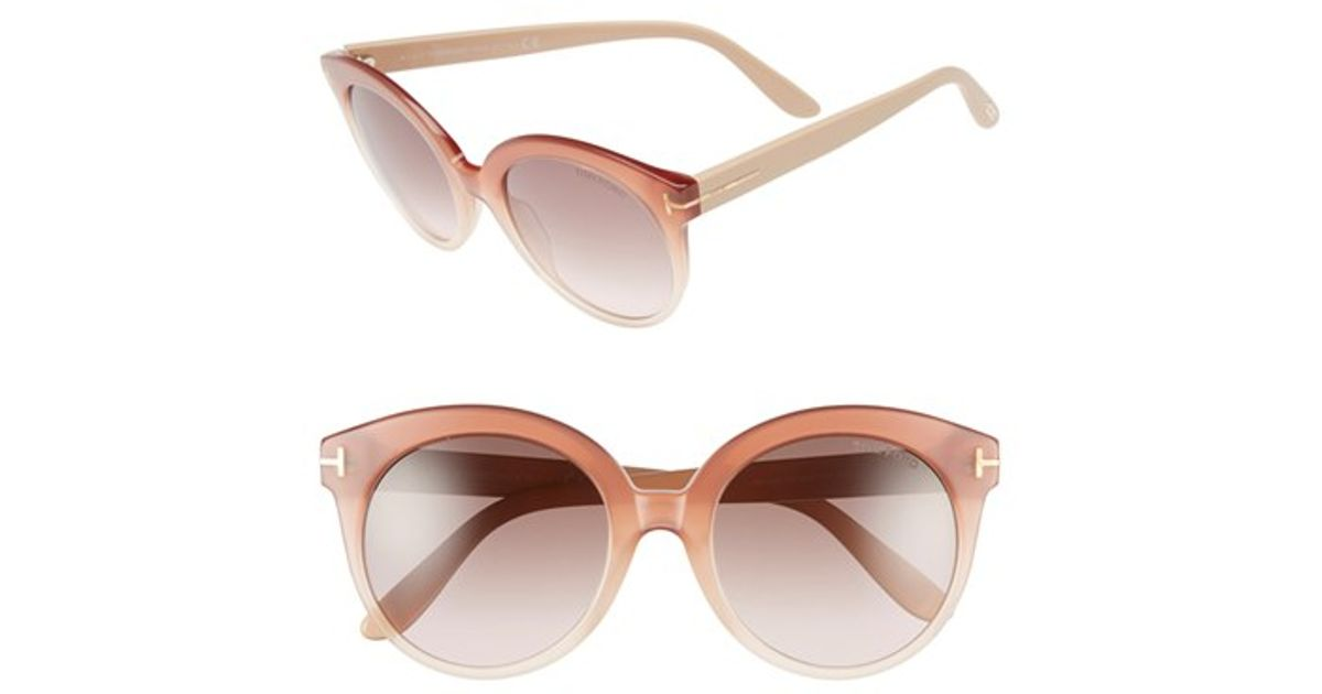 ac89149813cd8 Tom Ford  monica  54mm Retro Sunglasses in Pink - Lyst