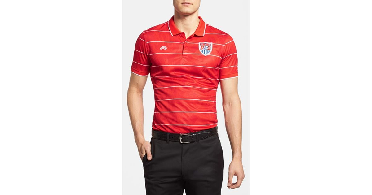 4198195c2ab Lyst - Nike Sb  usa - World Soccer  Dri-fit Polo Jersey in Red for Men