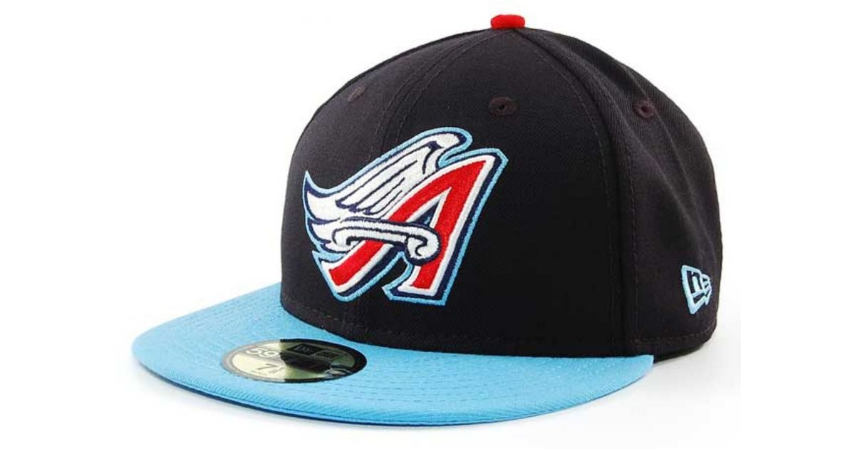 7025d33a7b4361 KTZ Los Angeles Angels Of Anaheim Mlb Cooperstown 59fifty Cap in Blue for  Men - Lyst