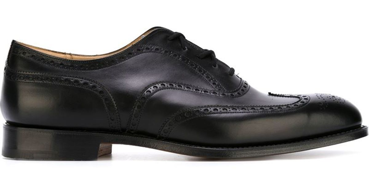 church s church s chetwynd brogues in black for lyst