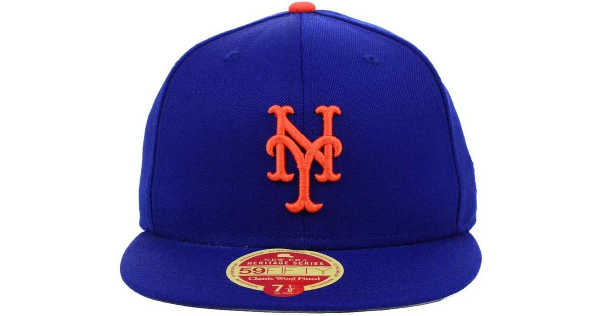 finest selection 1b12b edc1b Lyst - KTZ New York Mets Wool Classic 59Fifty Cap in Blue for Men