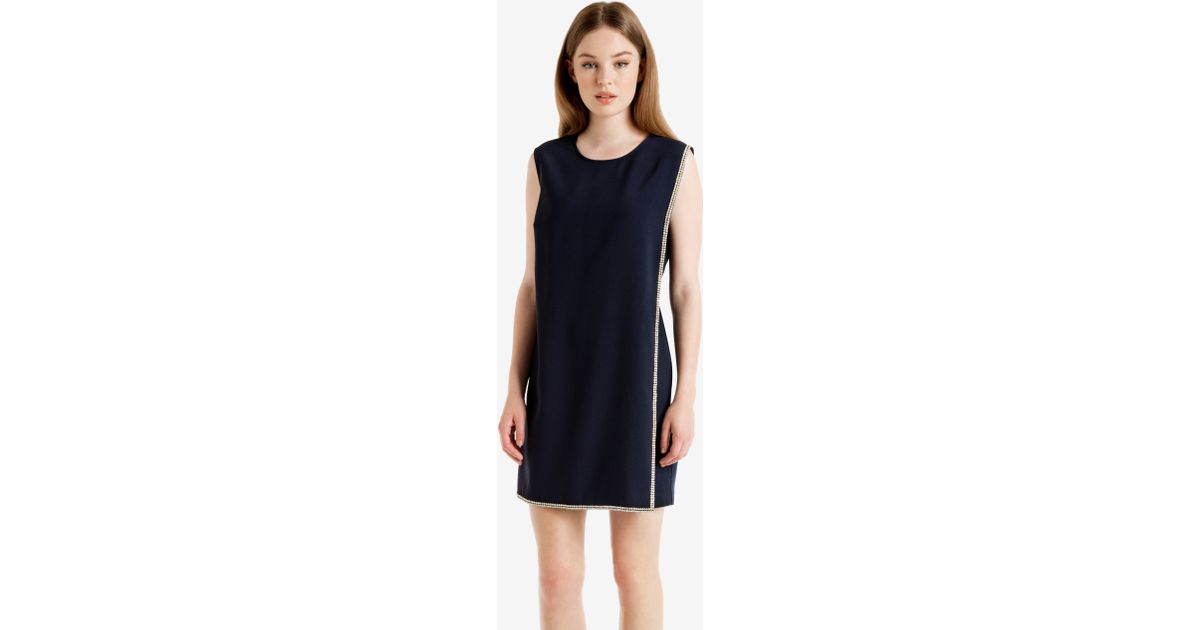 261534166e1 Ted Baker Double Layer Embellished Tunic Dress in Blue - Lyst