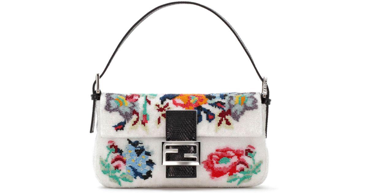 548af509d8 Lyst - Fendi Baguette Floral Needlepoint Bag
