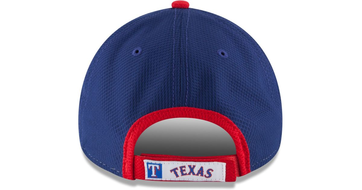 Lyst - KTZ Texas Rangers Perforated Block 9forty Cap in Blue for Men c2bc8c84db59
