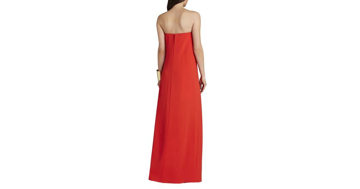 8c9e492c64dd BCBGMAXAZRIA Joice Strapless V-wire Dress in Orange - Lyst