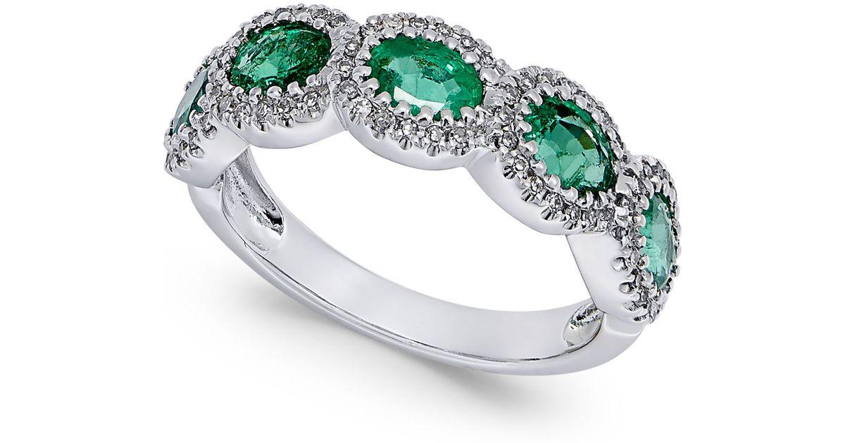 macy s emerald 1 1 10 ct t w and 1 5 ct t w