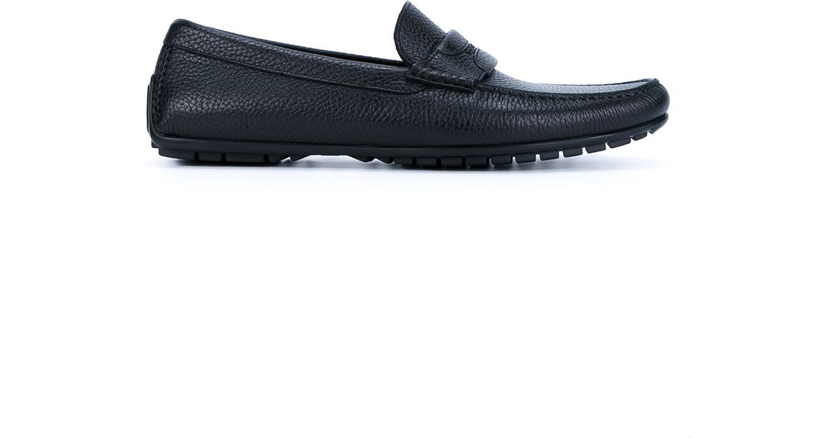 5f29b64a7ae Dolce   Gabbana Leather Driving Loafers in Black for Men - Lyst