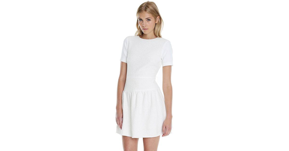 501dff6eacf5 Lyst - Tibi Vika Crochet Flirty Dress in White