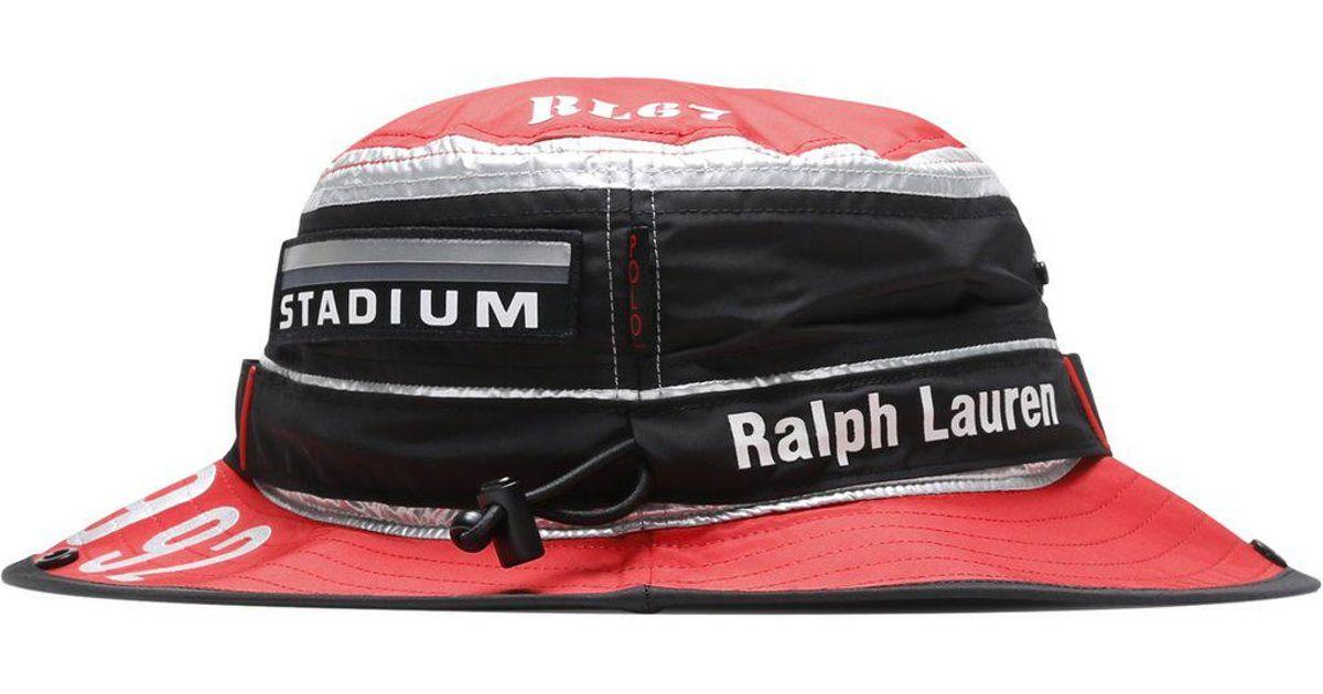 46b077f42fda6 Lyst - Ralph Lauren Booney Cap in Red