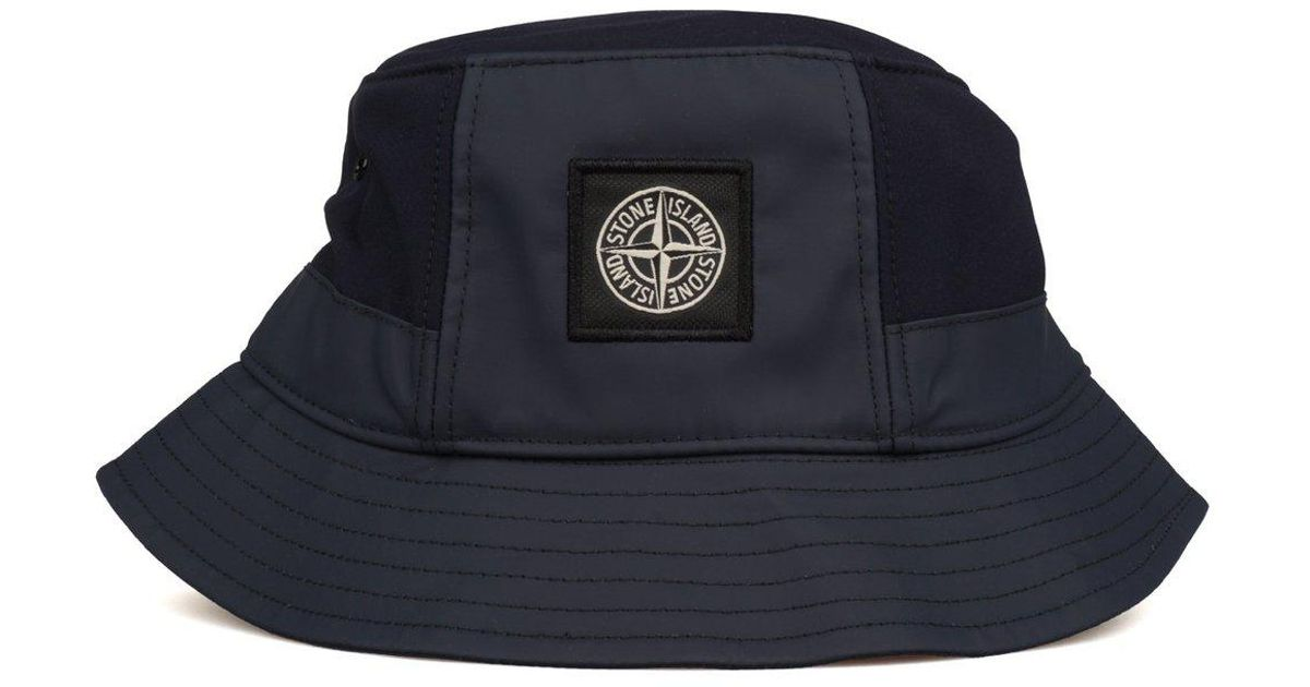 Lyst - Stone Island Bucket Hat in Blue for Men 6cd8d353a6a