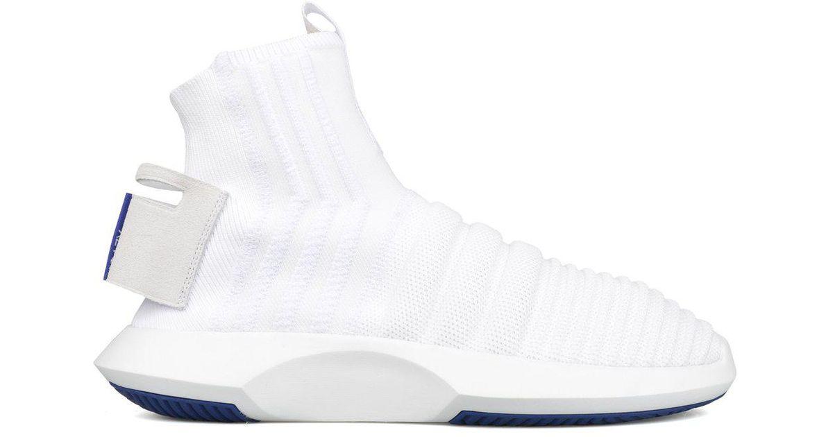 super popular e944e a67d4 Lyst - adidas Crazy 1 Adv Sock Pk (asw) in White for Men
