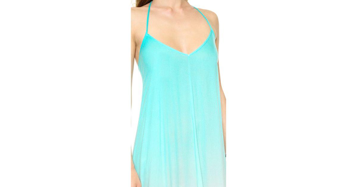 05cb1d06d Lyst - Young Fabulous   Broke Fortune Ombre Maxi Dress Aquagrey in Green