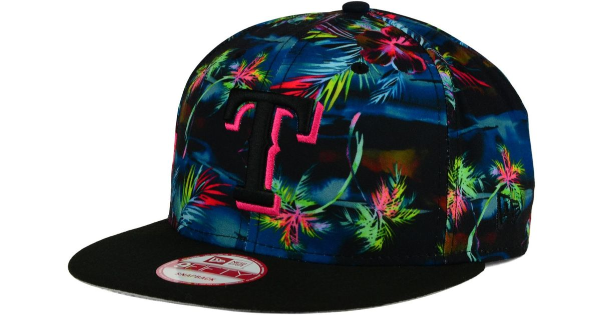 buy popular 03f25 3eb56 KTZ Texas Rangers Dark Tropic 9fifty Snapback Cap in Blue for Men - Lyst