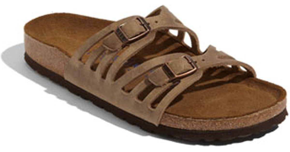 Birkenstock 'granada' Soft Footbed Oiled Leather Sandal in Brown | Lyst