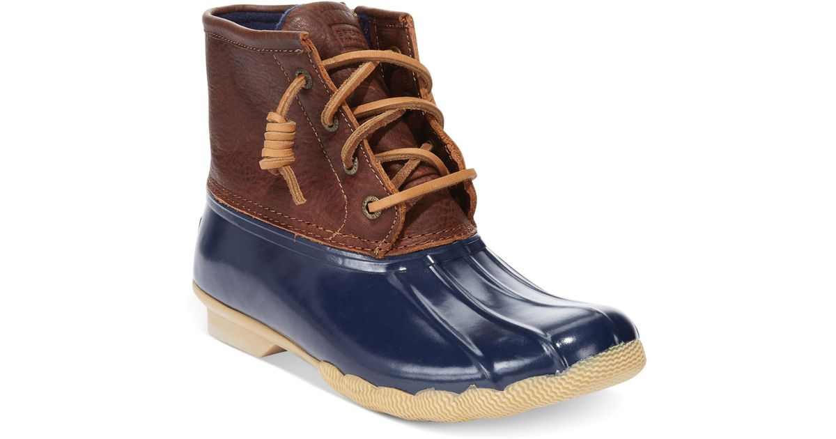 Sperry Top Sider Saltwater Water Resistant Boots In Brown