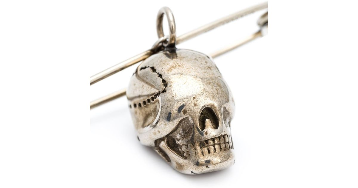 Lyst - Givenchy Safety Pin And Skull Brooch in Metallic 2e705edbc092