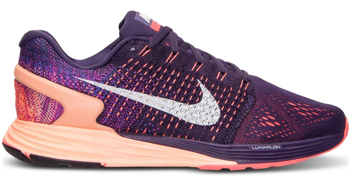 official photos f4ef0 d8acb ... authentic inexpensive lyst nike womens lunarglide 7 running sneakers  from finish line in purple 1e999 637f5