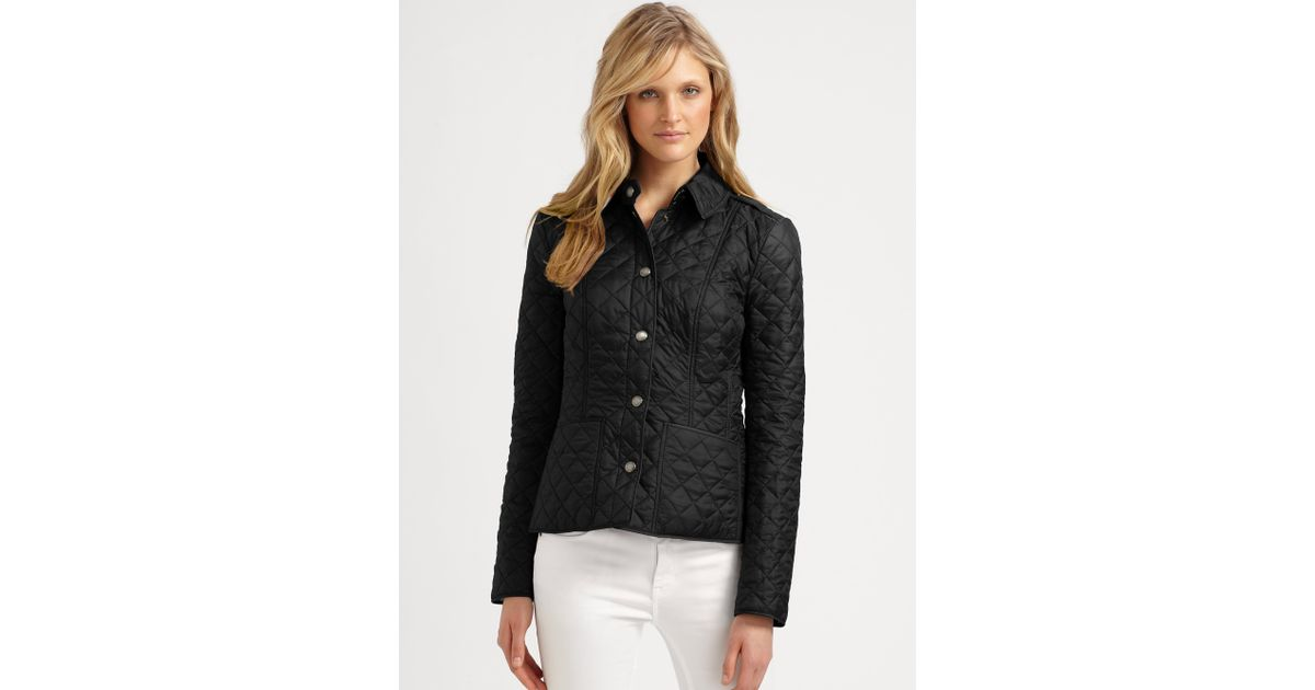 Burberry Kencott Quilted Jacket in Black   Lyst : burberry brit kencott quilted jacket - Adamdwight.com
