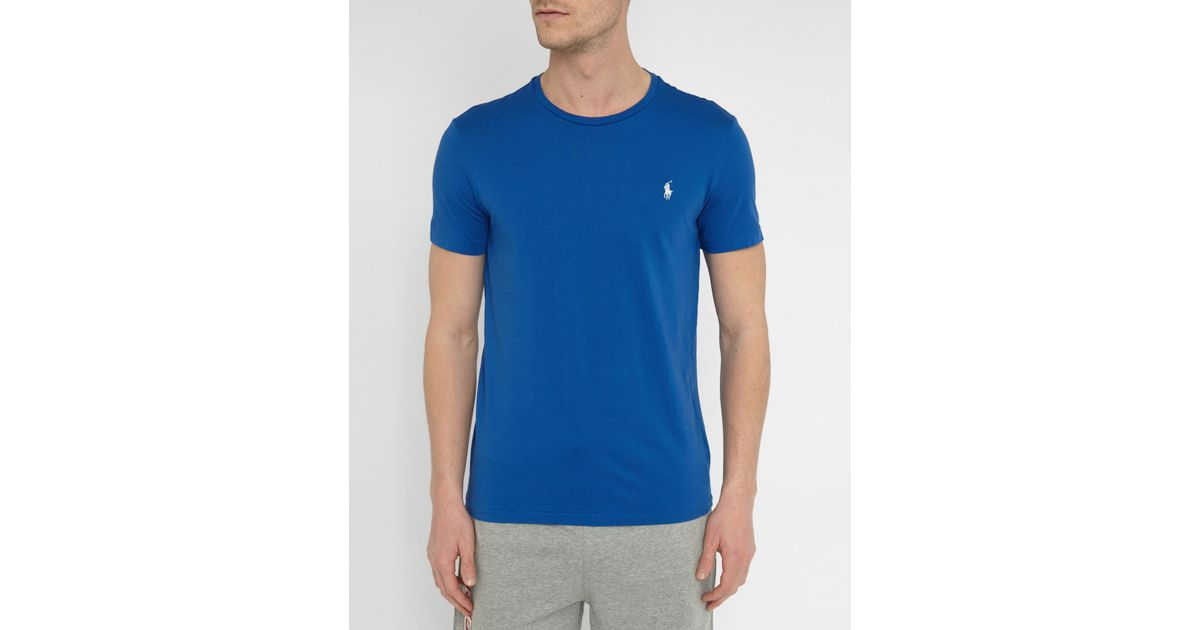 Polo Ralph Lauren Royal Blue Classic Logo T Shirt In Blue