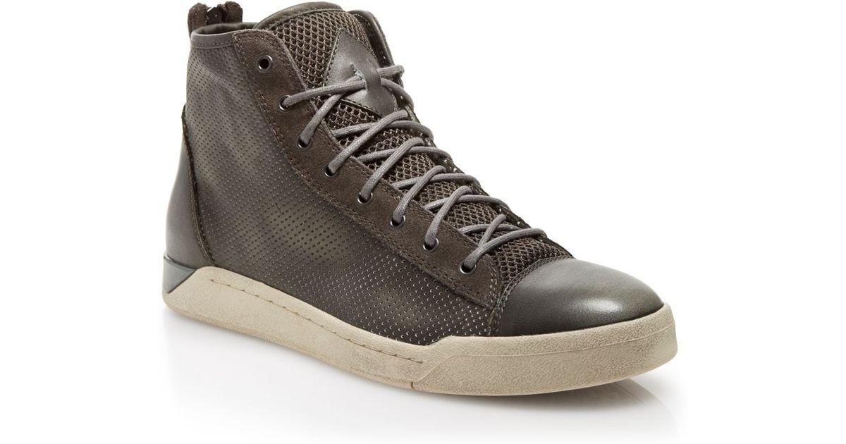Diesel Tempus Diamond Leather High-Top Sneakers ZGKtd