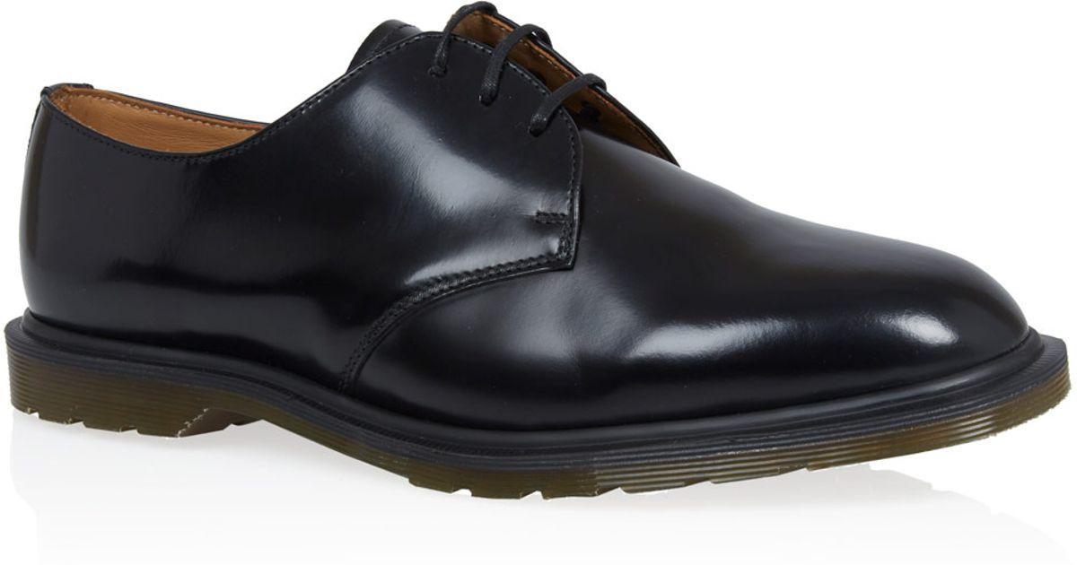 dr martens black steed leather derby shoes in black for men lyst. Black Bedroom Furniture Sets. Home Design Ideas