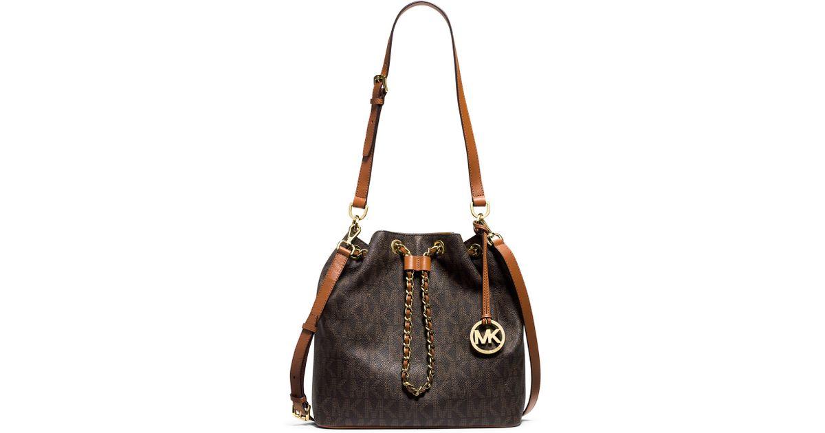 98c266900471 Lyst - MICHAEL Michael Kors Frankie Large Convertible Drawstring Shoulder  Bag in Brown
