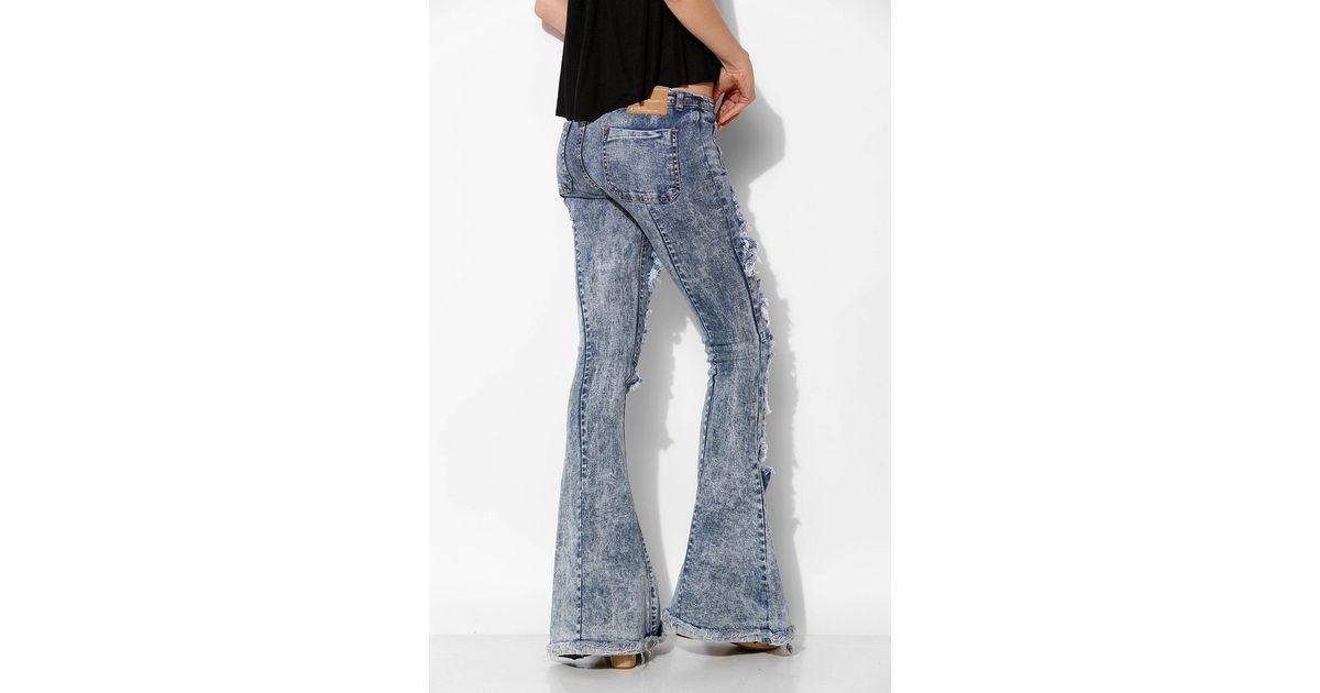 on sale online wholesale dealer 100% satisfaction One Teaspoon Blue Ziggy Destroyed Flare Jean