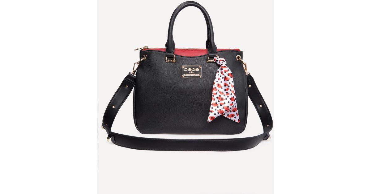 64175beea8 Bebe Serena Crossbody Bag in Black - Lyst