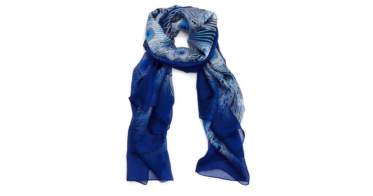 11b2991aa41ad Liberty Dark Blue Hera Chiffon Scarf in Blue - Lyst
