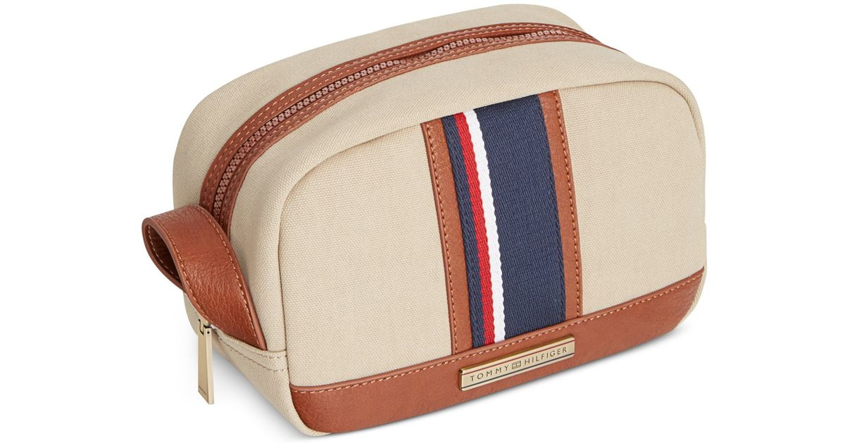 Lyst - Tommy Hilfiger Connor Dopp Kit in Natural for Men 41867498a8109