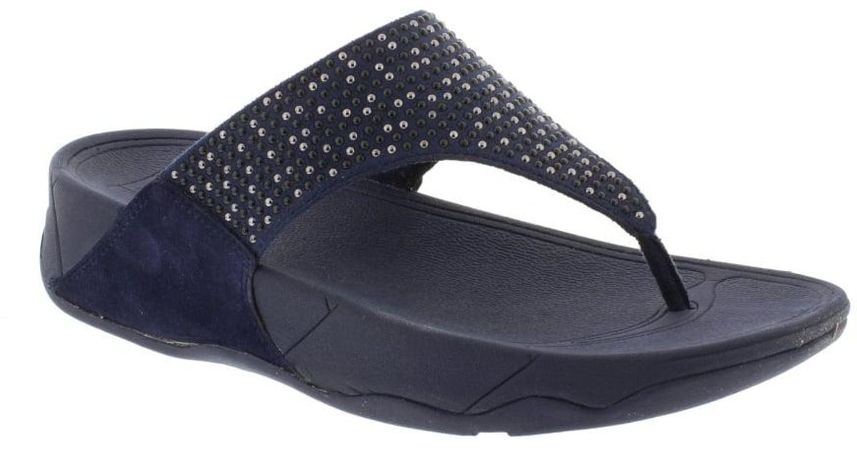 db67d5a23d6 Fitflop Lulu Pop Stud Toe Post in Blue - Lyst