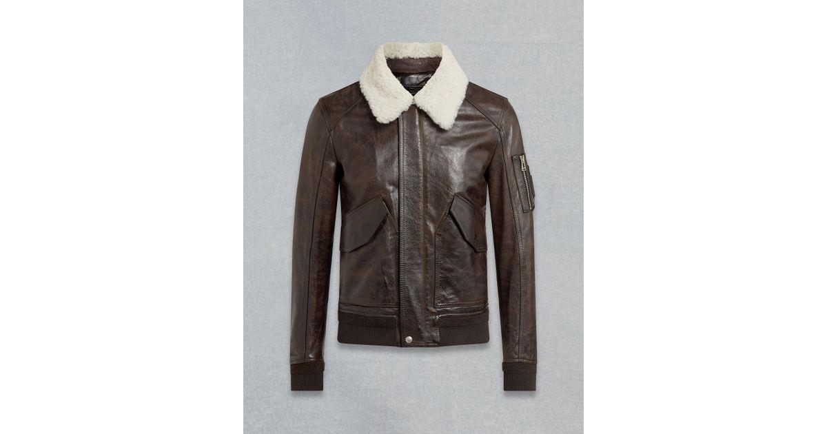 11555d928e2f Lyst - Belstaff Arne Bomber Jacket in Brown for Men