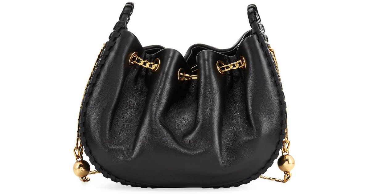 d8a7e925df50 Lyst - Marc Jacobs Sway Leather Bucket Crossbody Bag in Black