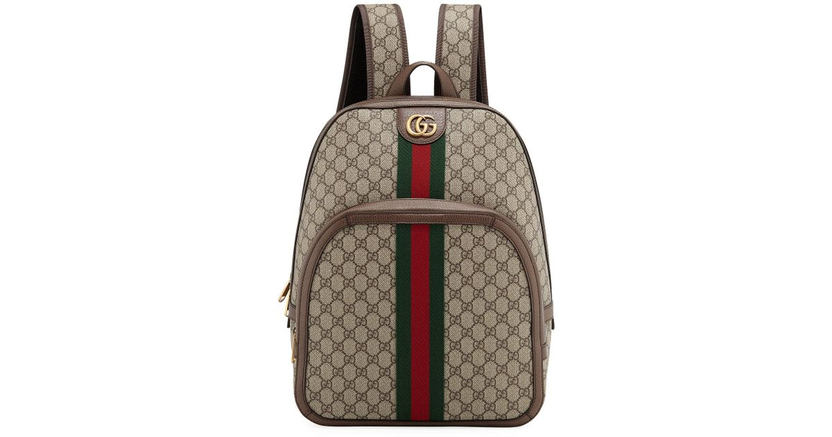 c1779fdd22b7 Gucci GG Supreme Canvas And Leather Backpack in Natural for Men - Save 23%  - Lyst