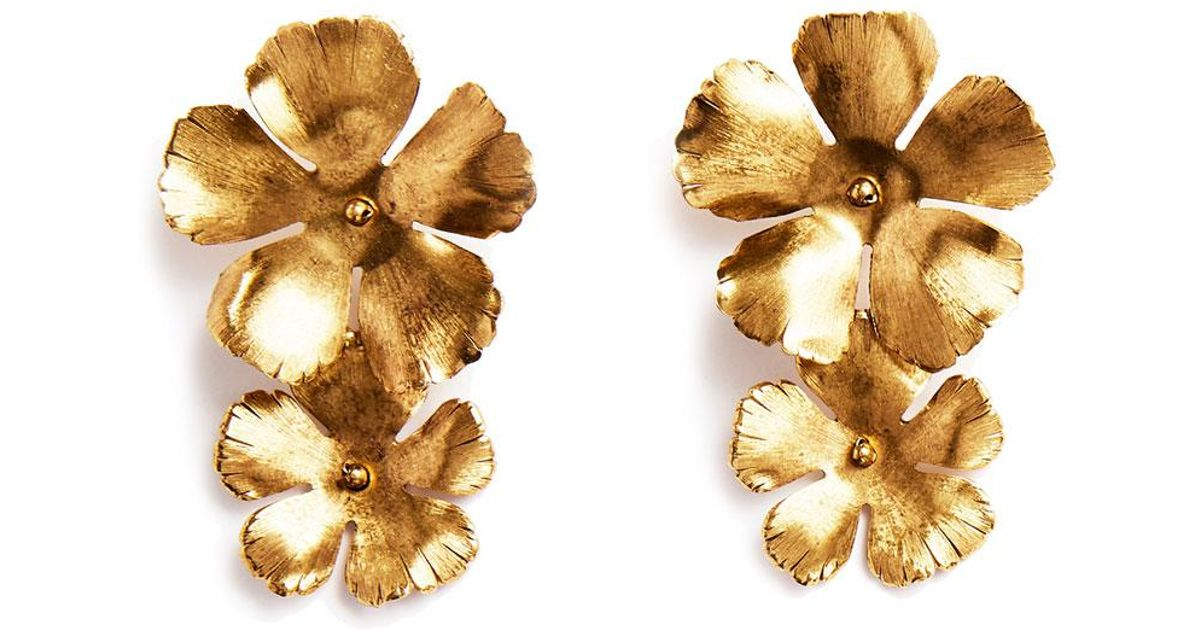 Jennifer Behr Chloe Statement Flower Earrings AtkcKN2F