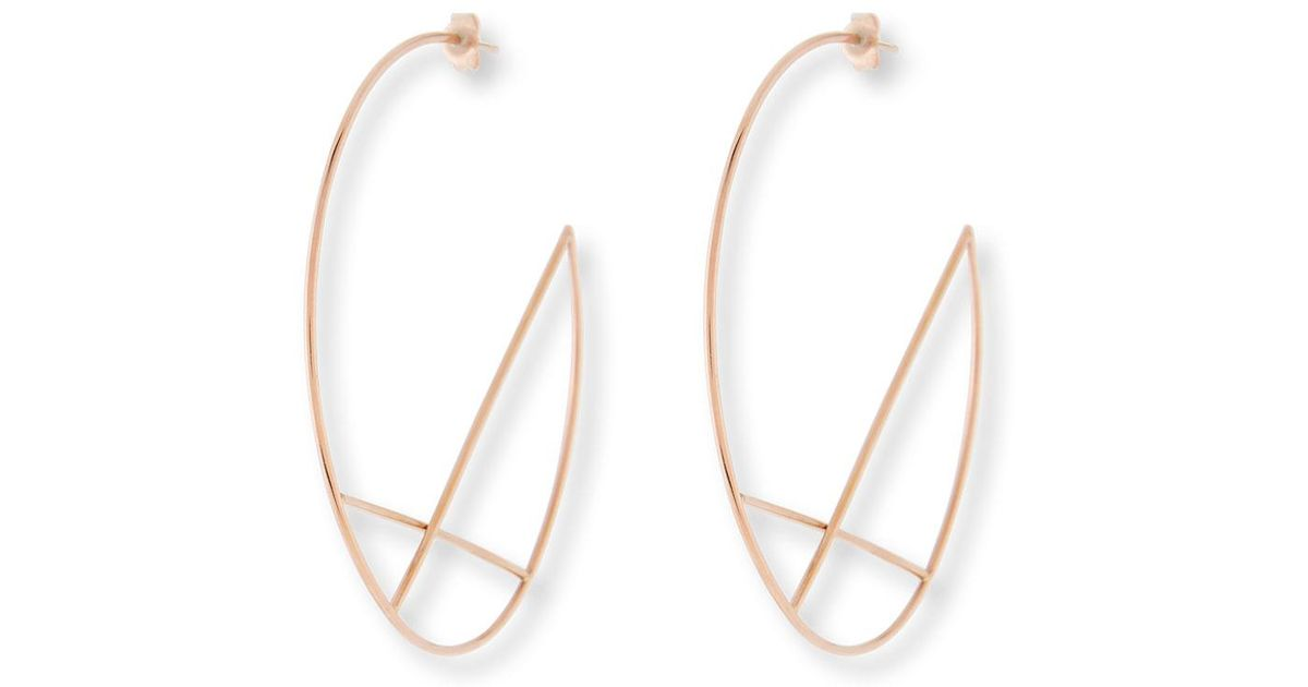 Lana Jewelry 14k Diagonal Hoop Earrings LRhaiY1log