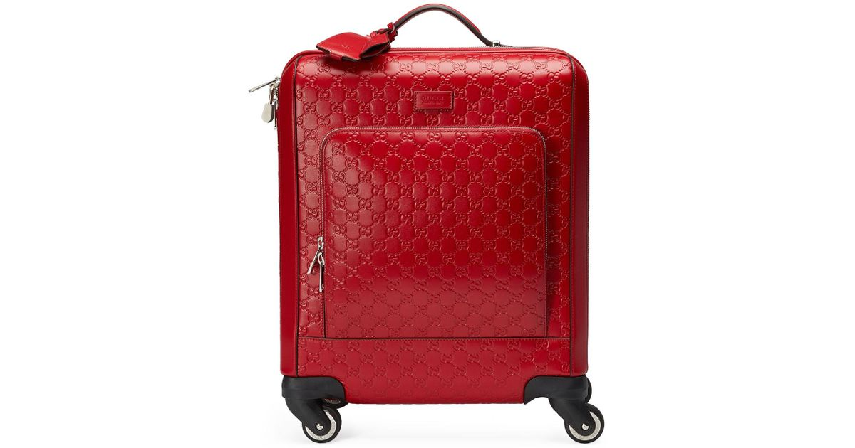 67d28abf1f9a Lyst - Gucci Gg Signature Carry-on Trolley in Red