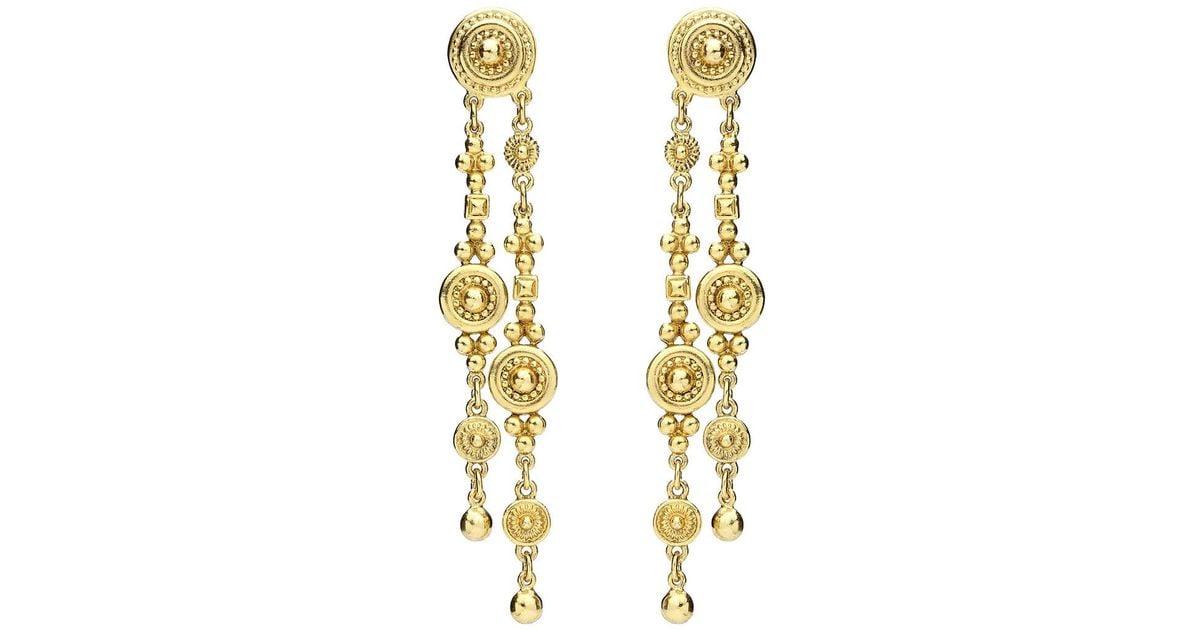 Ben-Amun Textured Double Dangle Earrings btBIqKvGV