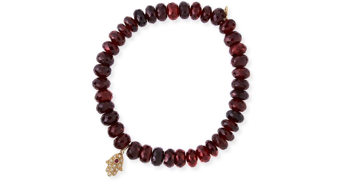 Syna 18kt Rhodolite Garnet Charm Bracelet STOoo8