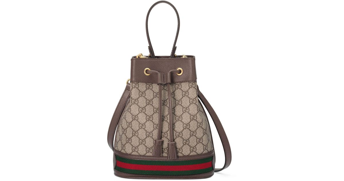 2630311ff46d Gucci Ophidia Small GG Supreme Bucket Bag in Natural - Lyst