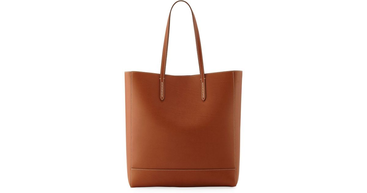 495be36f7a Lyst - Ralph Lauren Modern Leather Tote Bag in Brown