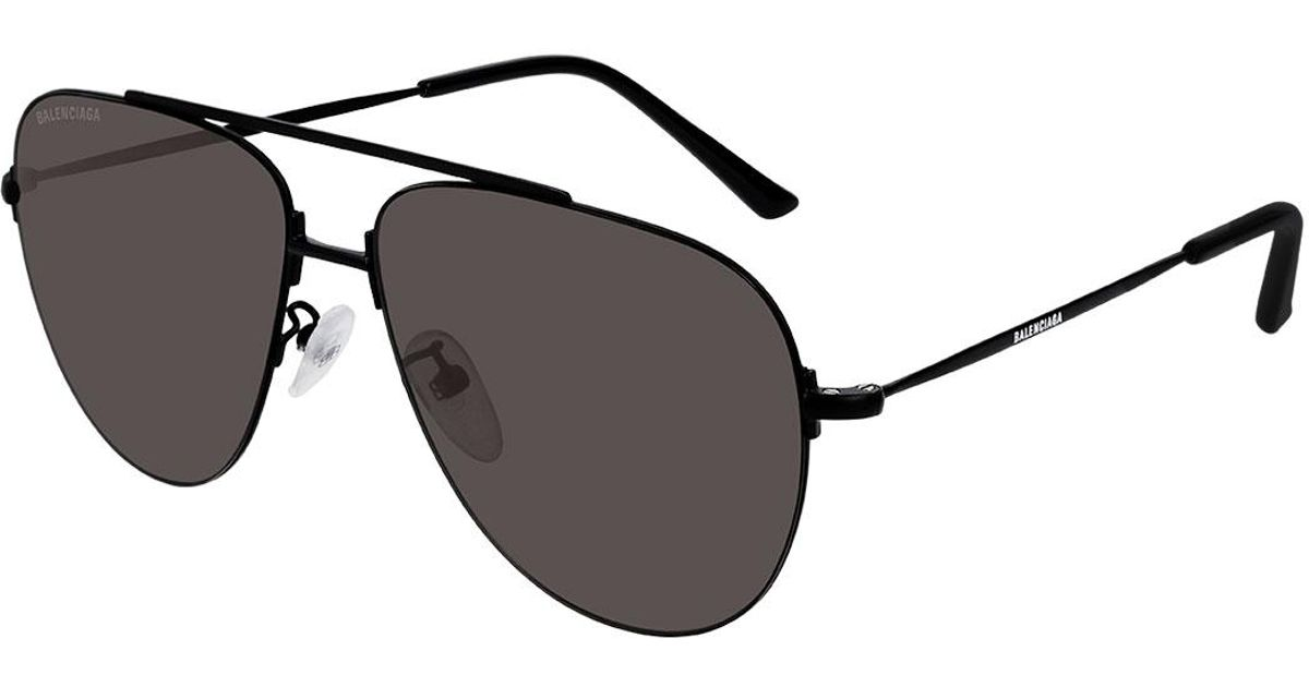 Sunglasses Balenciaga Metal Black Lyst Men Aviator In For Unisex Men's nPkXN8Ow0