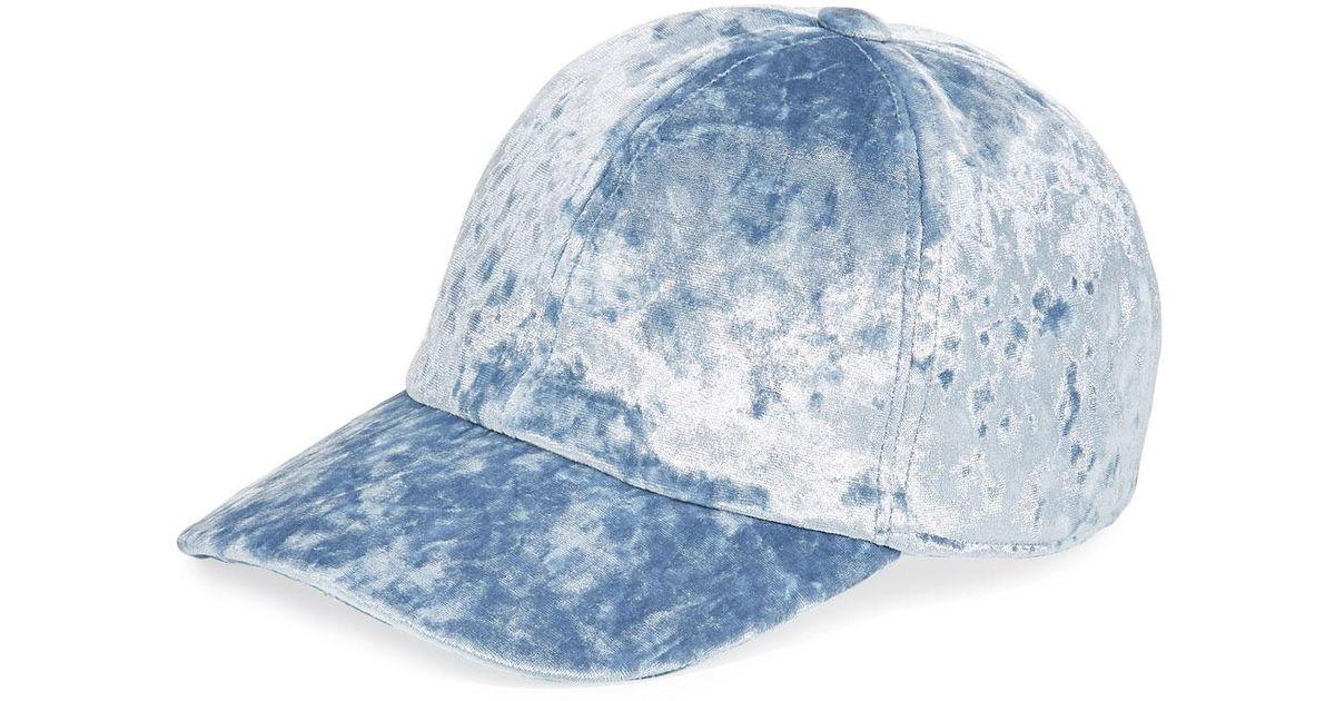 dddf3c08424d3f Federica Moretti Velvet Baseball Cap in Blue for Men - Lyst