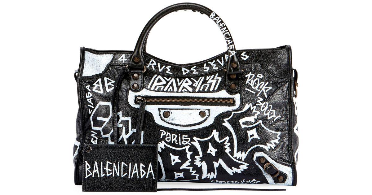 Balenciaga Classic City Aj Graffiti-print Satchel Bag in Black - Save 15% -  Lyst 5eba2eb4b31