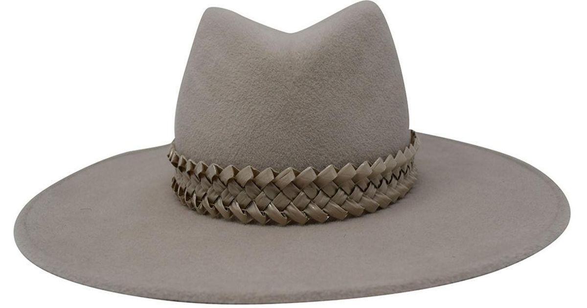 25788b0eb0fe7 Gigi Burris Millinery Jeanne Felt Panama Hat W  Racello Braid Band in Gray  - Lyst