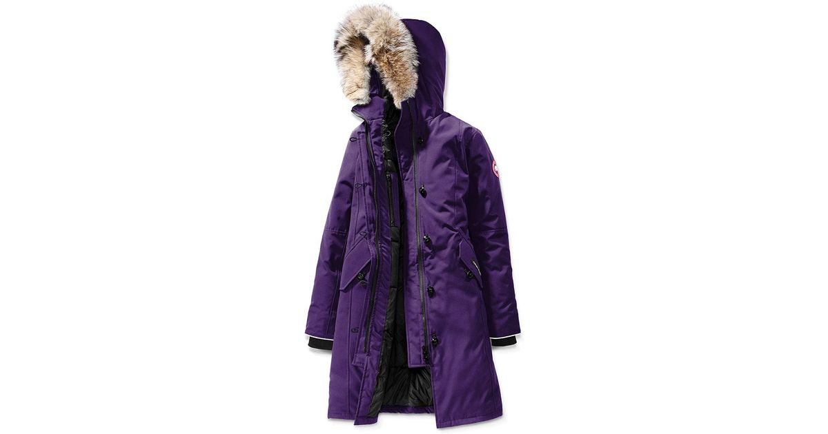 147d2dc65a6 Canada Goose - Purple Youth Brittania Parka With Removable Fur Trim - Lyst