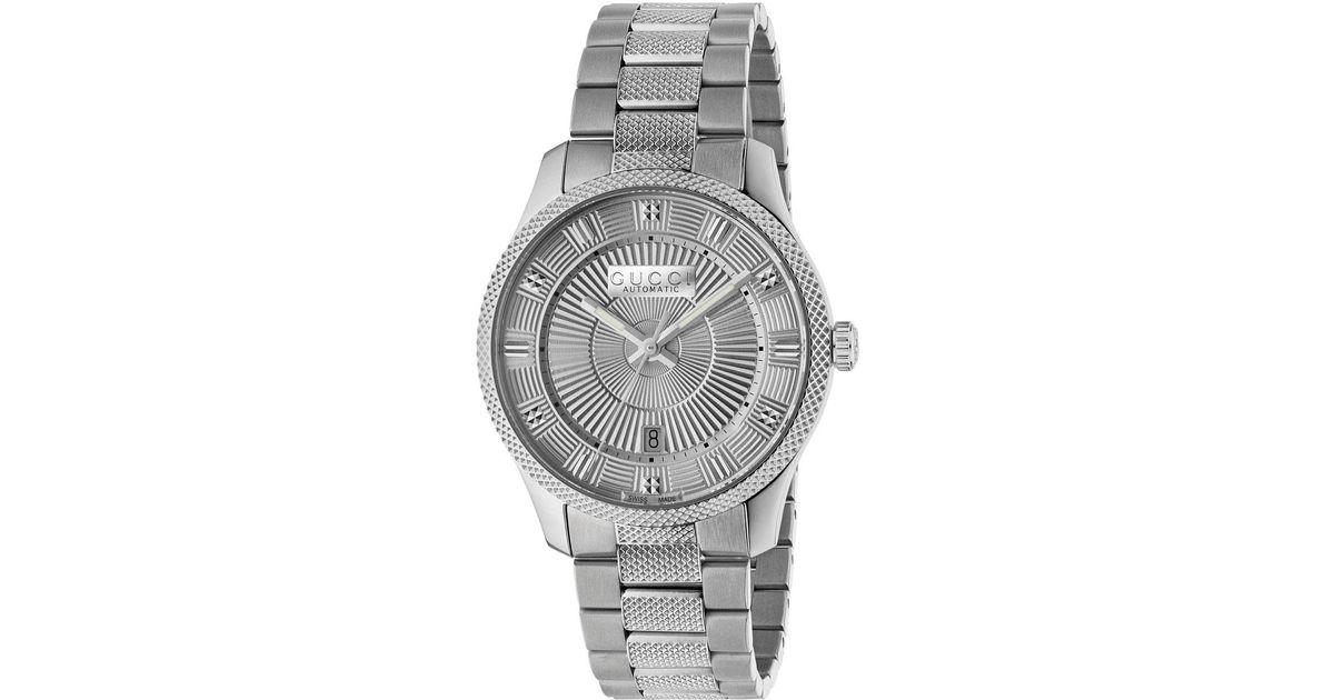 e5e79d3b2ed Lyst - Gucci Men s Automatic Stainless Steel Bracelet Watch in Metallic for  Men